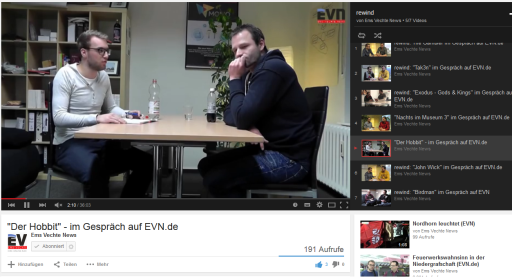 rewind: Sebastian und Henning als Filmkritiker.