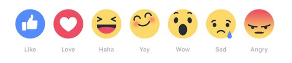 Die neuen Facebook-Emojis.