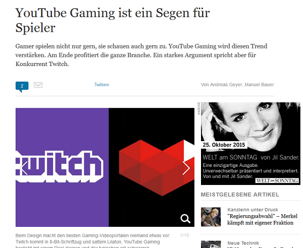 Screenshot: welt.de