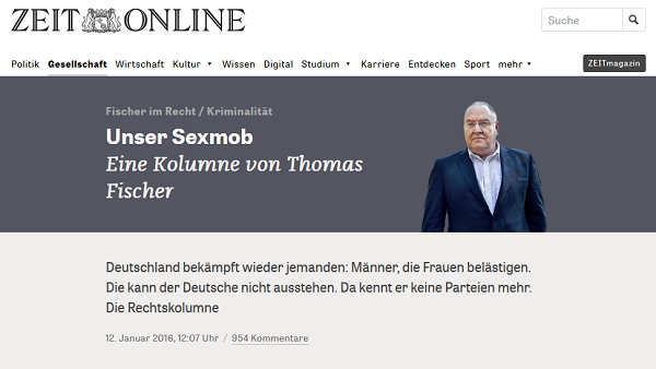 Screenshot: zeit.de