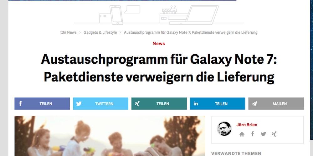 Screenshot: t3n.de