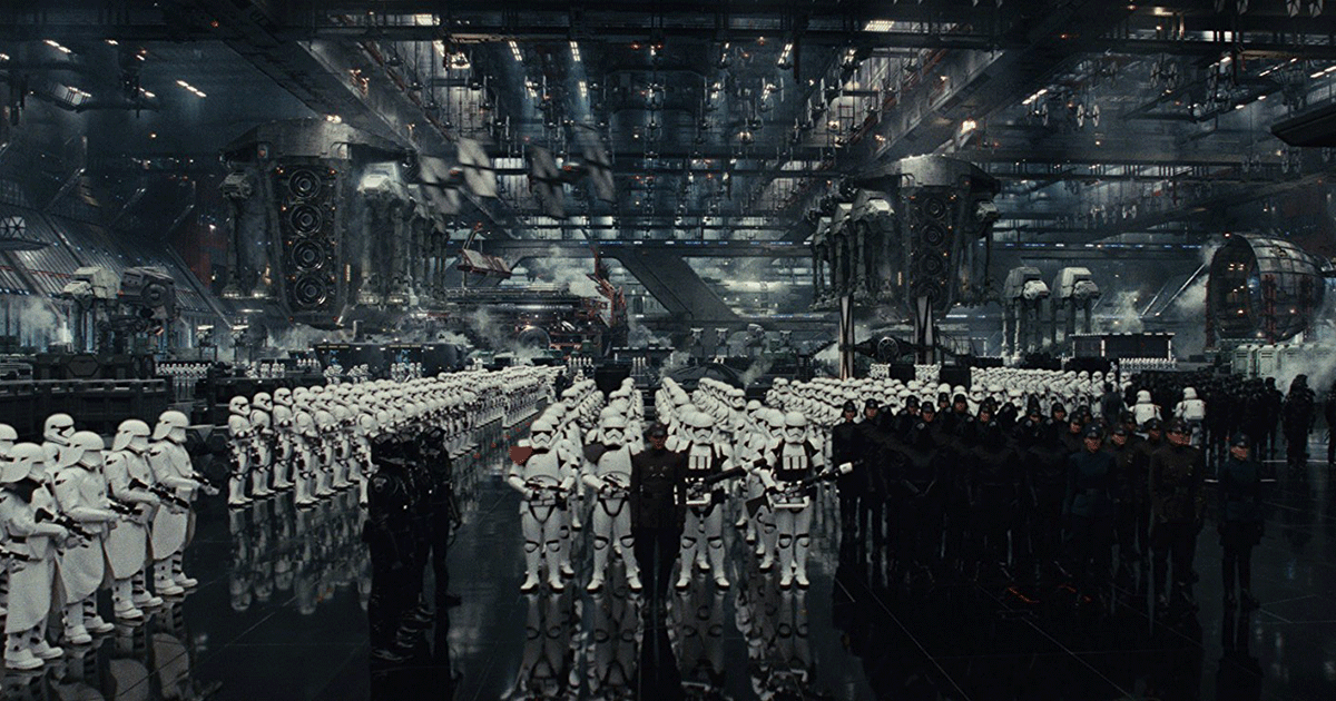 "Die First Order in ""The Last Jedi"". (c) Lucasfilm Ltd."